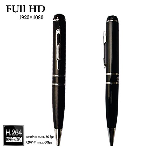 SUNMENCO Full HD 1080P Mini Camcorder Video Recording Plug and Play Extreme Hidden Cameras Multifunction DVR Recorder Pen Built-in 16GB Memory SM599