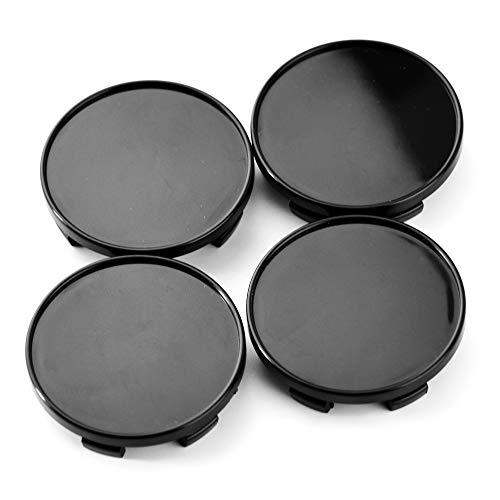 54mm Black ABS Car Wheel Center Hub Caps Set of 4 for 350Z (Base, Enthusiast) 2003-2006 370Z (Base) 2009-2010 Altima (25SL/Moon Roof, Base) 2002-2017