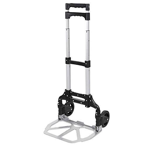 Evokem Portable Folding Hand Truck Dolly Luggage Carts, 150 lbs Capacity, for Industrial Travel Shopping Transportation (Hand Mini Truck)