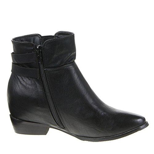 Ital-Design - Botas plisadas Mujer Negro - negro
