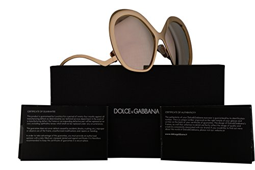 Dolce & Gabbana DG2180 Sunglasses Gold w/Brown Mirror Lens 57mm 025A DG - And Sunglasses Dolce Gabbana Cheap