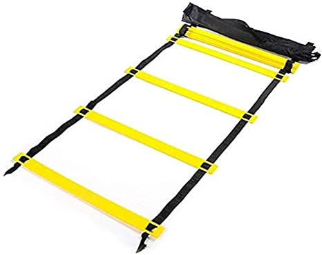 VLFit Escalera de coordinación de 6M de Largo | 50 cm de Ancho| con Bolsa y Clavijas | Escalera de Velocidad | Escalera de Velocidad para fútbol, Fitness, Deportes, Balonmano: Amazon.es: Deportes