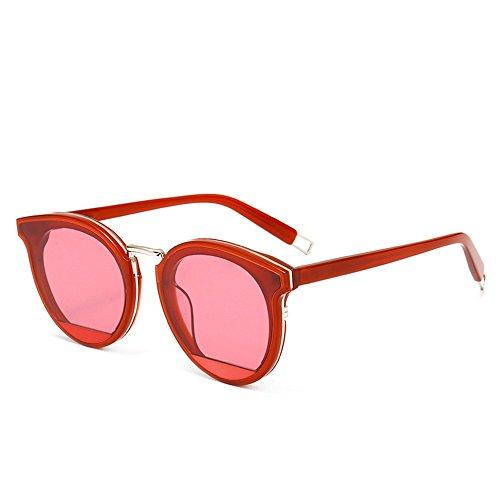 de sol de Shop redonda Gafas Gafas sol Tres gafas 6 sol sol con placa de montura gafas personalidad metálicas de de de RUYwYEqr