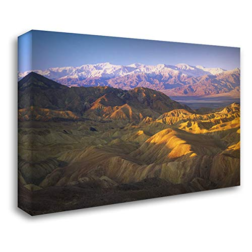 Looking at Panamint Range Over The Furnace Creek Playa from Zabriskie Point, Death Valley National P 38x28 Gallery Wrapped Stretched Canvas Art by Fitzharris, Tim
