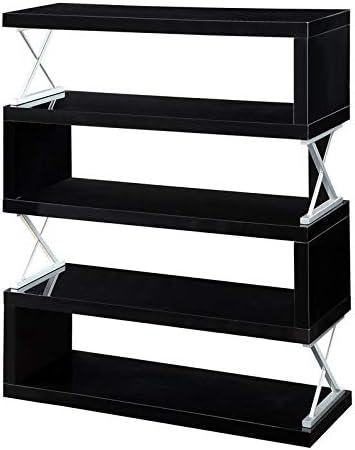 Cheap Furniture of America Sheena Contemporary Wood 5-Shelf Bookcase modern bookcase for sale