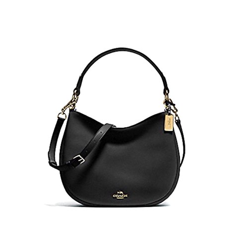 Coach Women's Glovetanned Leather Nomad Hobo Bag No Size (Li/Black) (Coach Nomad Crossbody In Burnished Glovetanned Leather)