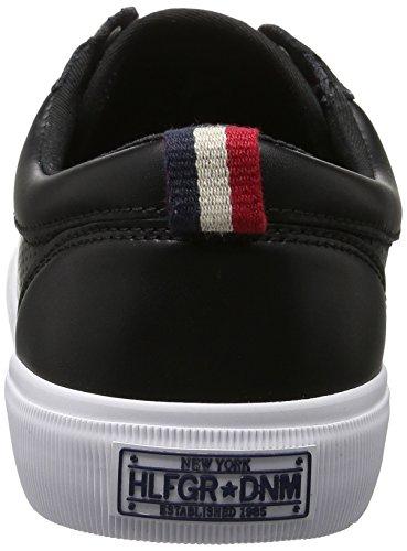 Tommy Hilfiger V2385ibe 1a, Zapatillas para Hombre Negro (Black 990)