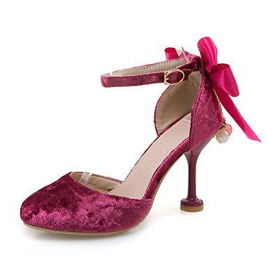 LvYuan Mujer-Tacón Stiletto-Otro-Sandalias-Oficina y Trabajo Vestido Fiesta y Noche-Vellón-Rosa Rojo Beige Red