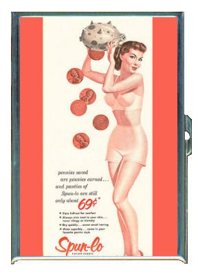 40s Cigarette - PANTIES '40s SEXY RETRO PIN-UP ID Holder, Cigarette Case or Wallet: MADE IN USA!