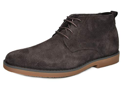 Bruno Marc Men's Chukka Dark Brown Suede Leather Chukka Desert Oxford Ankle Boots Size 11 M US