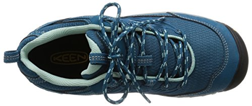 Keen Women's Saltzman Wp Low Rise Hiking Boots, Ink Blue/Eggshell, One Size Fits All Blue (Ink Blue/Eggshell)