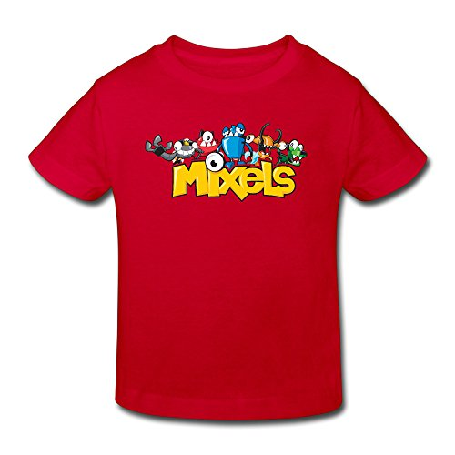 Toddler's 100% Cotton Mixels Cool Style T-Shirt Red US Size 5-6 Toddler