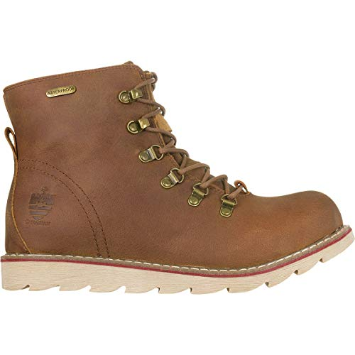 Lace Cottage (Royal Canadian Men's Caplan Front Lace/Side Zip Waterproof Boot (US 10, Cottage Brown))