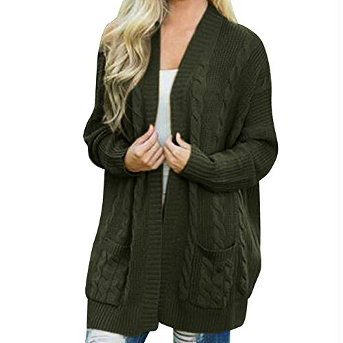 Women's Winter Open Coat,Clearance!AgrinTol Front Solid Pocket Cardigan Long Sleeve Sweater Coat by AgrinTol_Women Coat