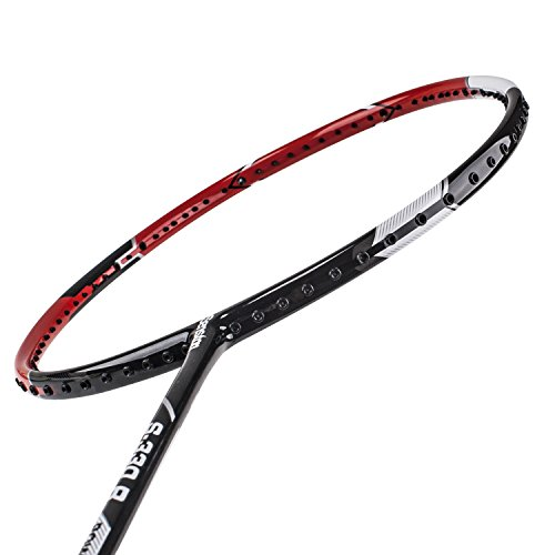 Senston S-330 Single Carbon Fiber Badminton Racquet High String Badminton Racket Red with Racket Cover by Senston (Image #3)