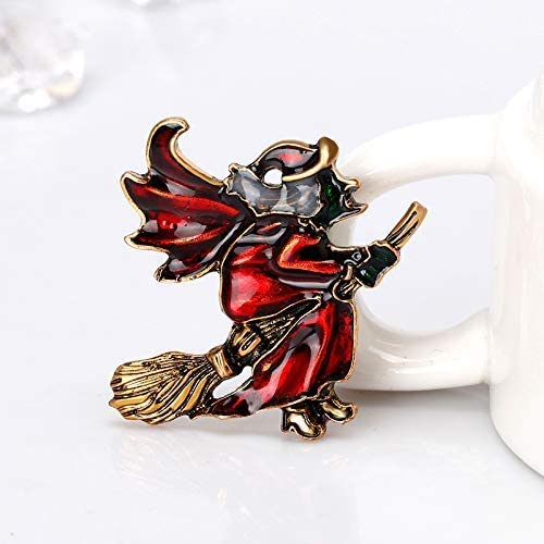 YRUI 1 Pcs Halloween Series Brooch Fashion Brooch Pin Witch Design Festival Gift for Your Love