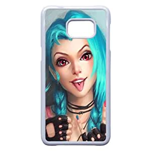 Jinx League Of Legends Art Girl 100048 Samsung Galaxy Note 5 Edge Cell Phone Case White Cell Phone Case Cover EEECBCAAK71622