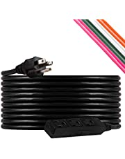 UltraPro, Black, GE 25 ft Extension, 3 Outlet, Indoor/Outdoor, Grounded, Double Insulated Cord, UL Listed, 36825, 25 ft, 25 Ft