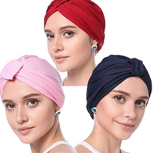 TYRL Oscuro Chemo Noche K Sombrero Oncológico Paquete Carne De Gris Tres Càncer Vino Pelo Pèrdida Rojo Blanco Z Quimioterapia Azul Un Cabello Negro Modal De Rosa Gorro para rnqrCw