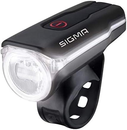 SIGMA SPORT Fahrradbeleuchtung AURA 60 USB, 60 LUX, Frontlicht, StVZO zugelassen, wasserdicht, USB wiederaufladbar, 3 Leuchtmodi