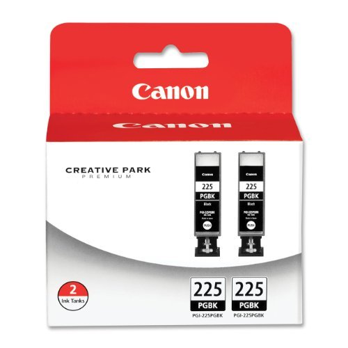 4 X Canon PGI-225 4530B007 Twin Pack Value Pack-Black (Canon Pgi 225 Black Twin Pack Ink Cartridge)