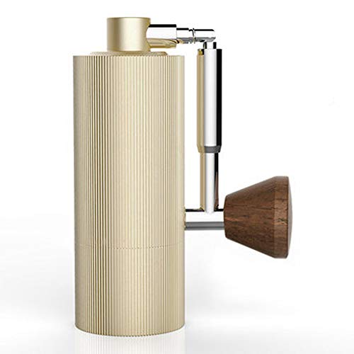 Seed Bean Gold - WMC Foldable Aluminum Portable Coffee Grinder, Steel Grinding Core Design Manual Coffee Mill for Beans Spices Nut Seed Coffee Bean Grind,Gold