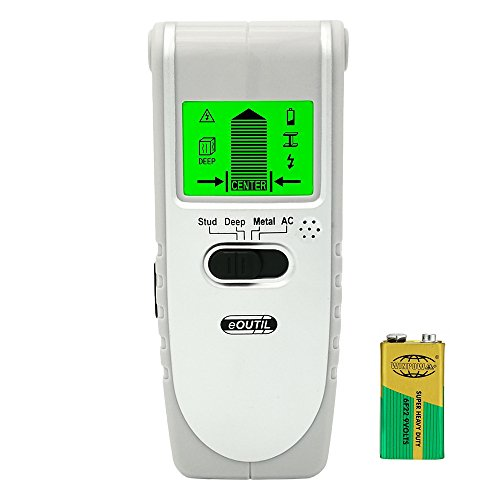eOUTIL TH240 Multi-Scanner Wall Stud Center Finder with Sound Warning For Wood Stud/AC Wire/Metal Detector, Battery Included