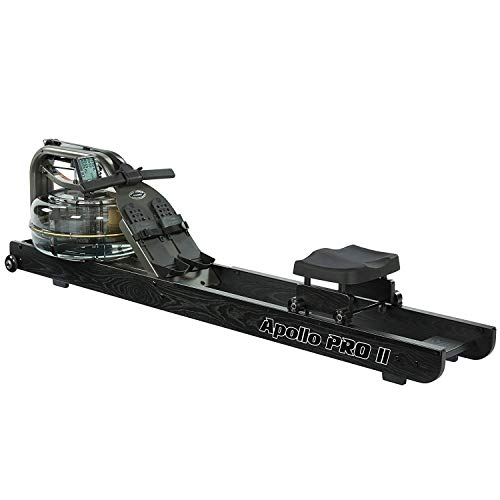 First Degree Fitness Indoor Water Rower with Adjustable Resistance - Apollo Pro II Black Reserve