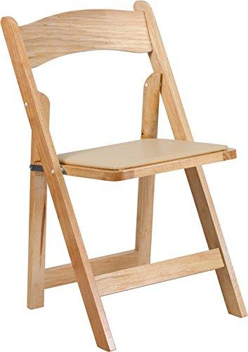 Hercules Series Folding Chair with Vinyl Padded (Beechwood Folding Chair)