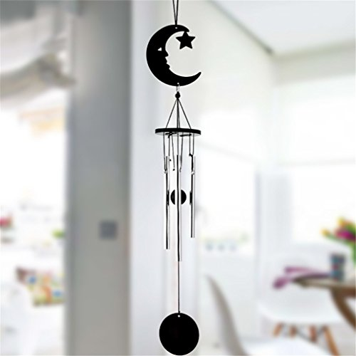 Multi-Tube Handmade Music Wind Chimes Home Crafts Ornaments Small Decorative Pendant Moon ()