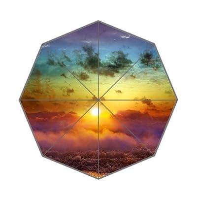 110,2x 65cm Sun Rise en Cloud Orange Parapluie