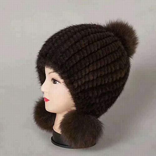 Orejeras Personalidad Bola De Sombreros Mujer Talla Moda B Calientes una Punto Invierno Gruesa Sombrero Zj La d pYHqnn