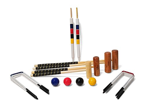 Uber Games 9 Wicket Croquet Set - Family - 4 Player