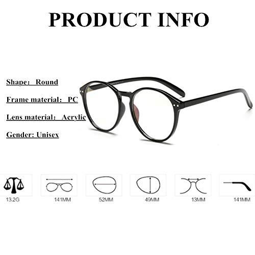PANHU Klassische Nerdbrille brille Vintage Look clear lens brillengestelle herren brillengestelle damen durchsichtige brille