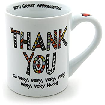 "Our Name is Mud ""Thank You"" Porcelain Mug, 16 oz."