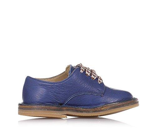 20 Garçon À Cuir Italy En Bleue Pèpè Lacets In Chaussure Made vaqwf4PC