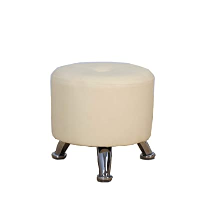 Remarkable Amazon Com Footstool White Pu Leather Seat With Wooden Gmtry Best Dining Table And Chair Ideas Images Gmtryco