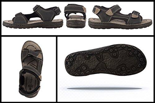 Cuoio Trekking Sandals Sandali Uomo da Sandali da Man Uomo Estivi Sandali da scuro Hiking di Sandali Zerimar da Navy Blu Uomo da Uomo XOqp8