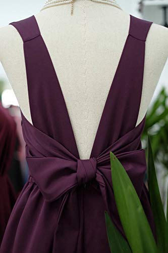 e26ea281a4c Amazon.com  Plum purple bridesmaid dresses prom party wedding cocktail  evening short dress  Handmade