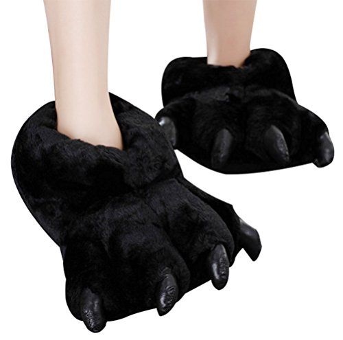 Black Unisex Feet Costume and House Slippers, (Fake Feet Costume)