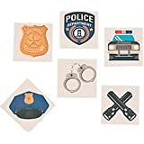 Police Party Tattoos - 72 ct