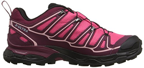 Salomon X Ultra II GTX - Botas para mujer, Rosa (hot pink/bordeaux/pebble blue), 39 1/3: Amazon.es: Zapatos y complementos
