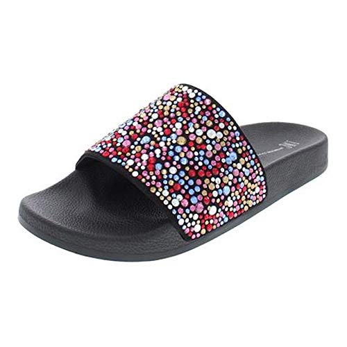 INC International Concepts Womens Peymin2 Open Toe Casual, Black Multi, Size 8.0 from INC International Concepts