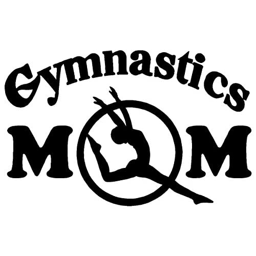 sassy stickers gymnastics mom white decal car truck bumper