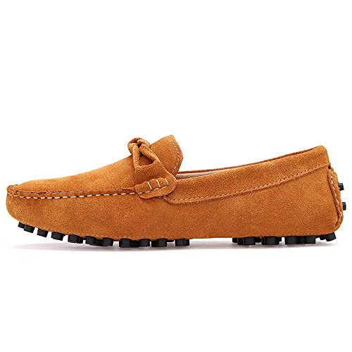in vera uomo casual Marrone pelle eleganti Mocassini scamosciata pelle Color Guida EU da Dimensione 43 Mocassini shoes Xiazhi in scamosciata wqYB11