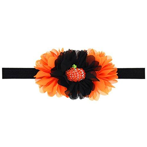 ZOONAI Baby Girl Toddler Halloween Pumpkin Hair Band Infant Hair Band Accessories (A) ()