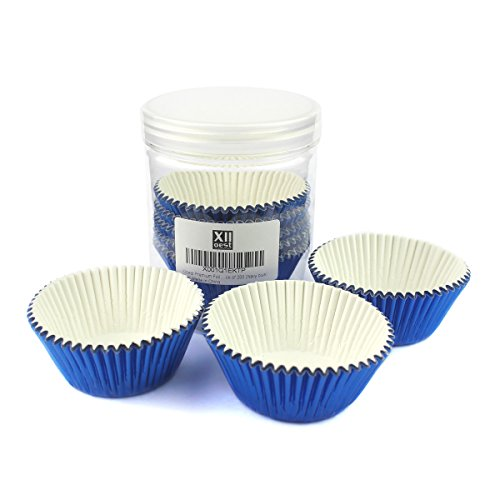 Xlloest Premium Foil Paper Baking Cups, Cupcake Liners Paper Blue - Pack of 200