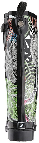The Sak Womens Rhythm Rain Boot Nero Wild Life