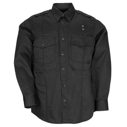 5.11 72345 Men's PDU Long Sleeve Twill Class B Shirt (Black, Large) (Black T-shirt Cops)