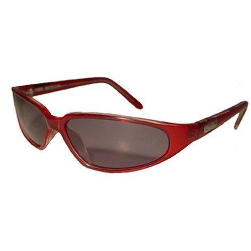 Negro moscas luz roja clara con marco Micro gafas de sol polarizadas para pesca con mosca